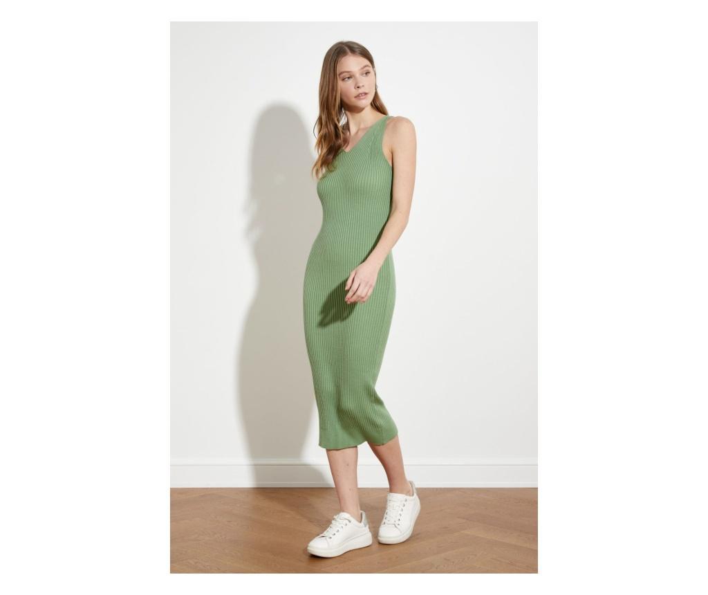 Rochie midi dama Jarl S, Trendyol, verde menta - Trendyol, Verde