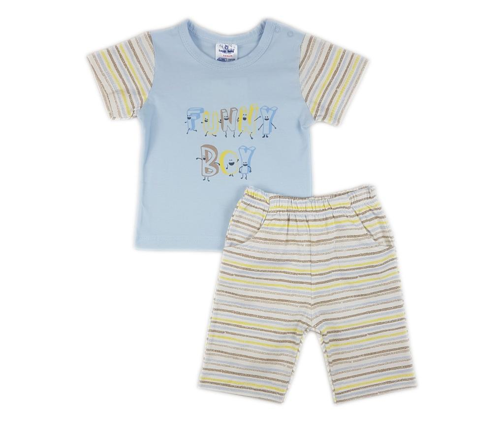 Set tricou si pantaloni scurti Luggi Baby 3-6 luni - Luggi Baby, Albastru