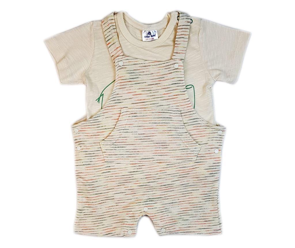 Set salopeta si tricou pentru copii Luggi Baby 12-18 luni - Luggi Baby, Crem