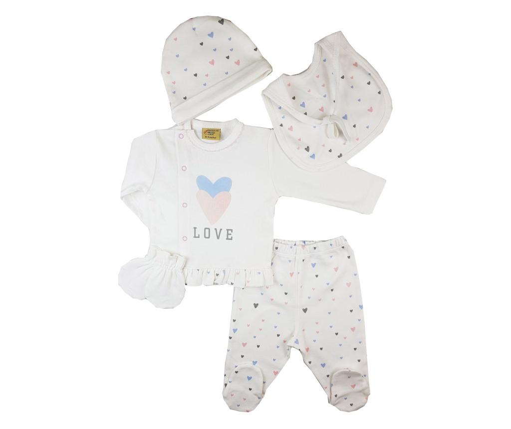Set haine pentru bebelusi 5 piese Luggi Baby nou nascut - Luggi Baby, Crem