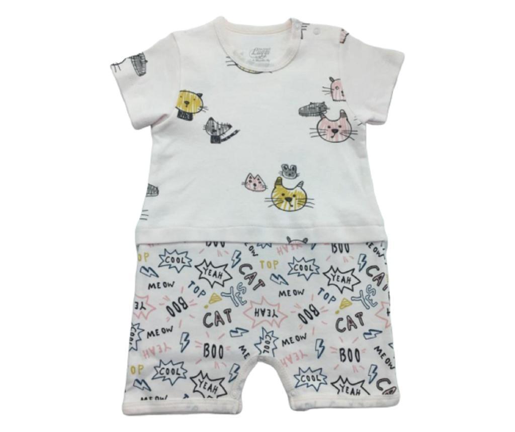 Salopeta scurta Luggi Baby 3-6 luni - Luggi Baby, Crem