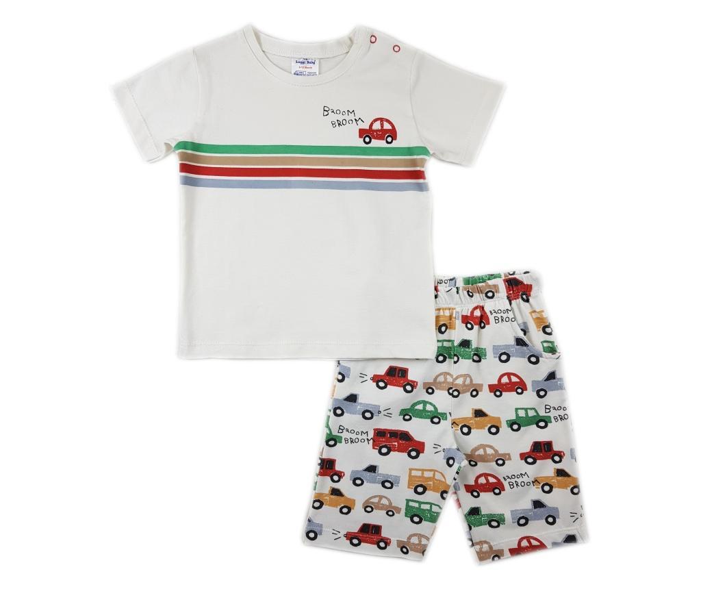 Set tricou si pantaloni scurti Luggi Baby 6-9 luni - Luggi Baby, Rosu
