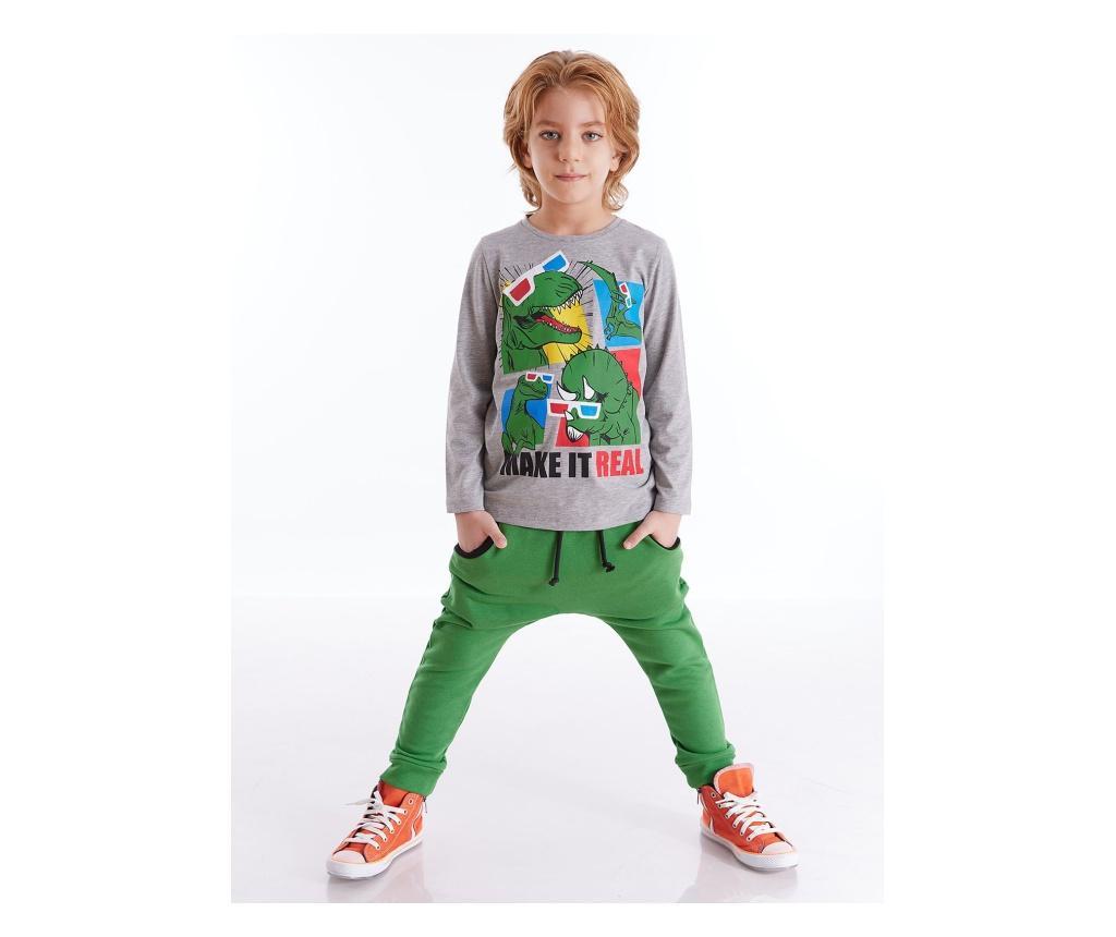Set bluza si pantaloni 4 ani - Mushi, Verde