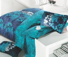 Lenjerie dubla satinata Safir Turquoise