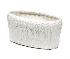 Ghiveci oval White Tricot