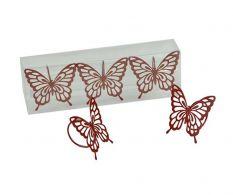 Set 3 inele pentru servete Red Butterfly