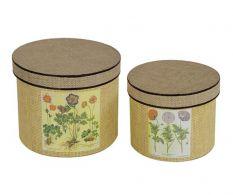 Set 2 cutii asortate Rustic Flowers