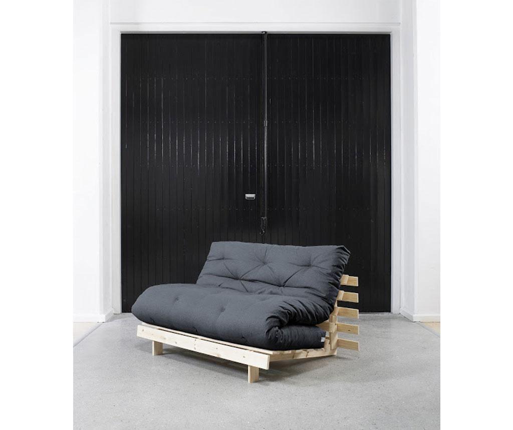 Sofa extensibila Roots Raw & Navy 140x200 cm