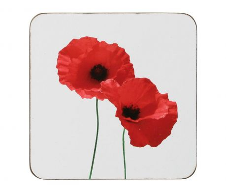 Set of 4 coasters Poppy