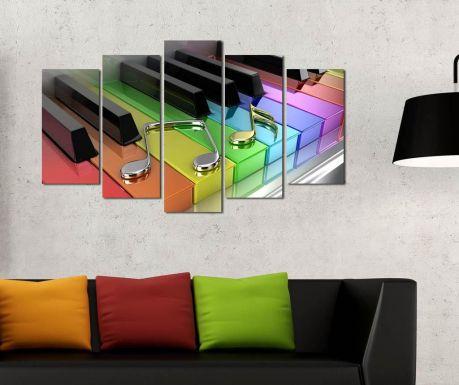 Set 5 tablouri Colorful Music