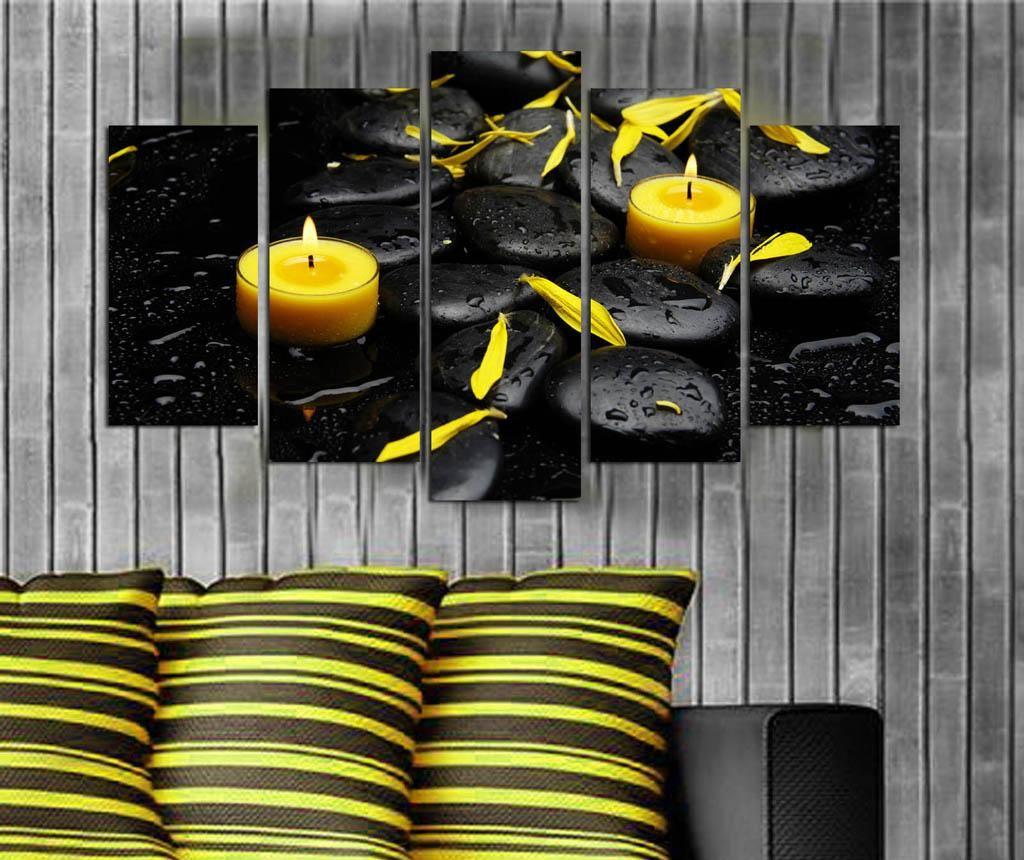 Set 5 tablouri Yellow Drops