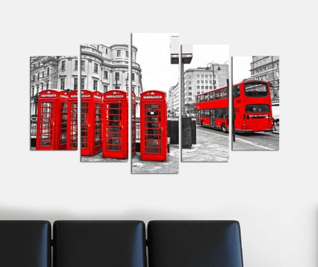 Zestaw 5 obrazów London Station