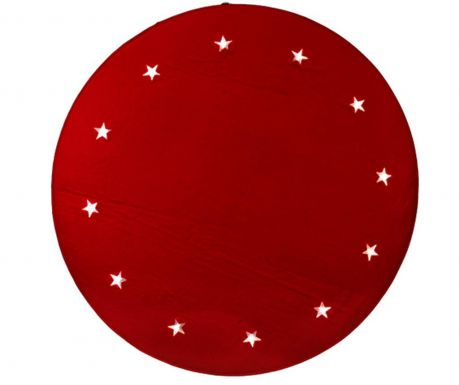 Covoras luminos Christmas Stars Red