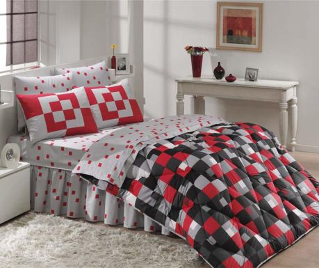 Mirage Red kétszemélyes pamut-szatén Ágynemű szett bfe6086909