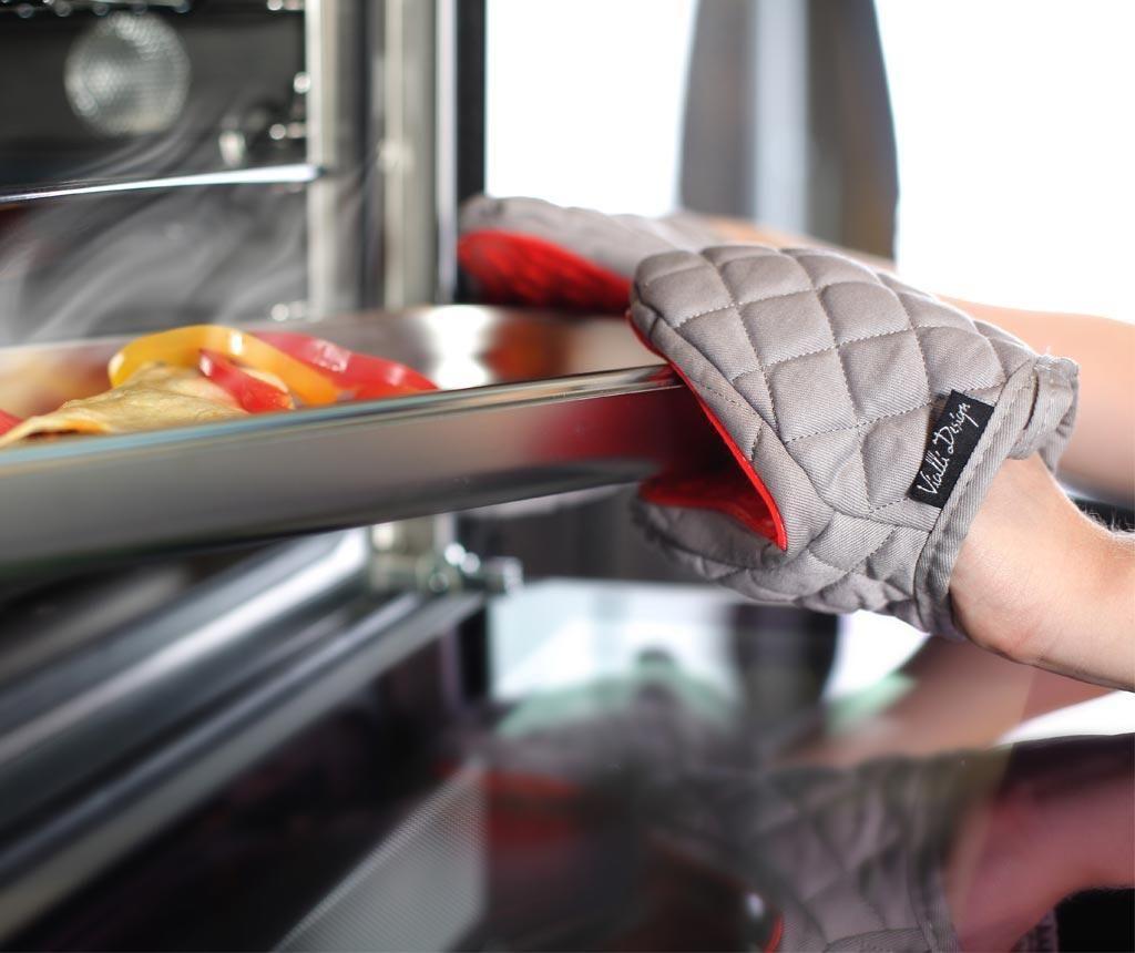 Rokavica za pečico Livio Grey Red