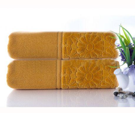 Zestaw 2 ręczniki kąpielowe Samba Mustard 50x90 cm