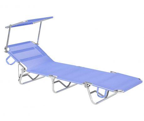 Leżak z daszkiem Brandina Blue
