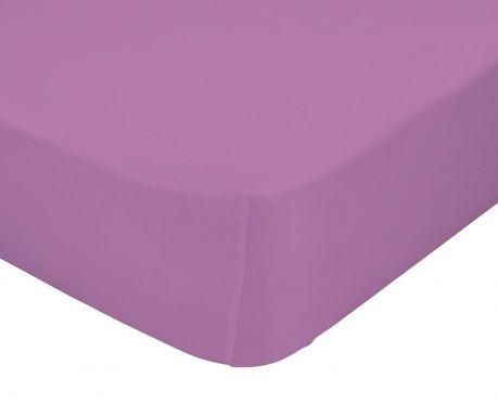 Cearsaf de pat cu elastic Basic Lilac 90x200 cm