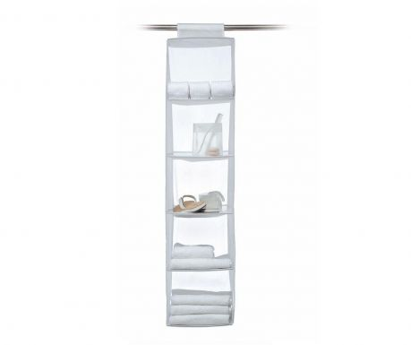 Wardrobe organizer with 5 compartments Top Class White