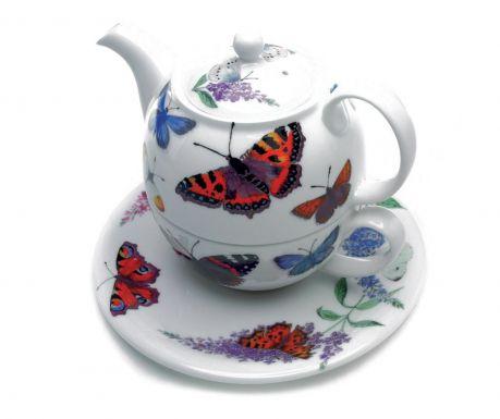Butterfly Garden Teáskanna csészével és kistányér