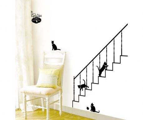 Стикер Cats and Stairs