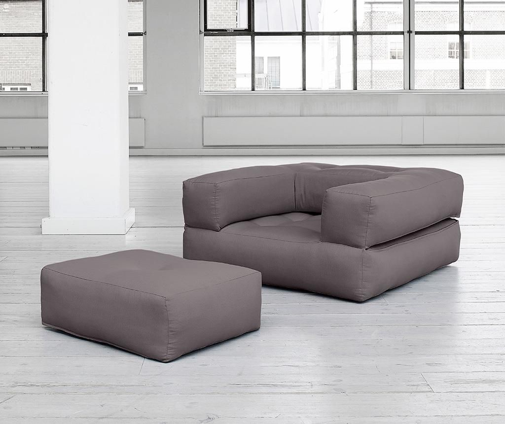 Разтегателен фотьойл Cube  Grey