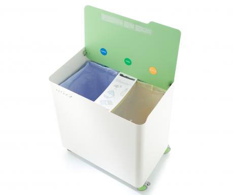 Odpadkový koš na třídění odpadu Ecobox Green 60 L
