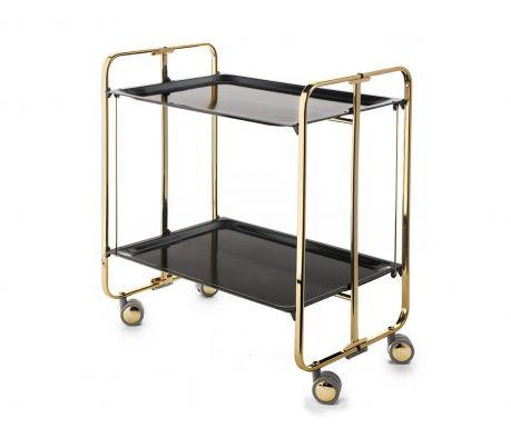 Sklopiva kolica za posluživanje Star Mini Gold Black