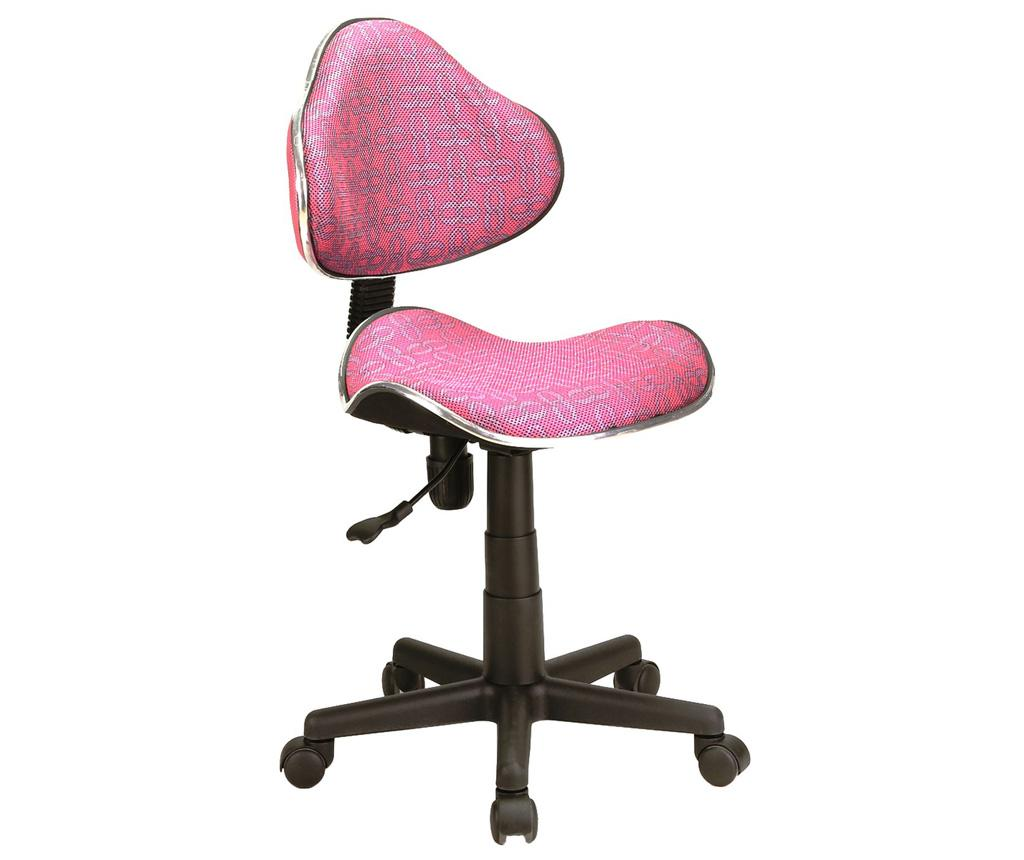 Scaun De Birou Pentru Copii Checkers Pink - Signal, Roz