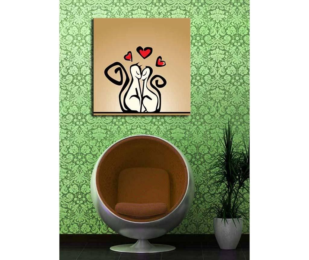 Slika Cats in Love 45x45 cm
