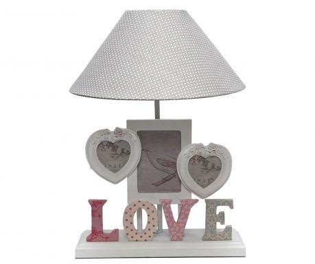 Love Éjjeli lámpa 3 fényképtartóval