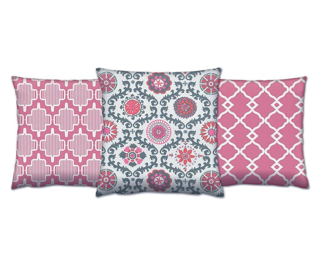 Set 3 jastuka Jinan 43x43 cm
