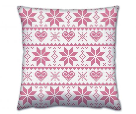 Perna decorativa Flakes Pink 43x43 cm