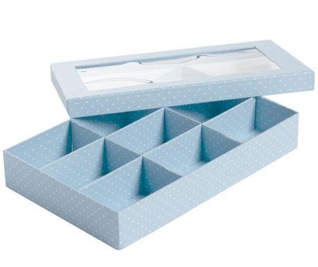 Pudełko z pokrywką Dots Blue