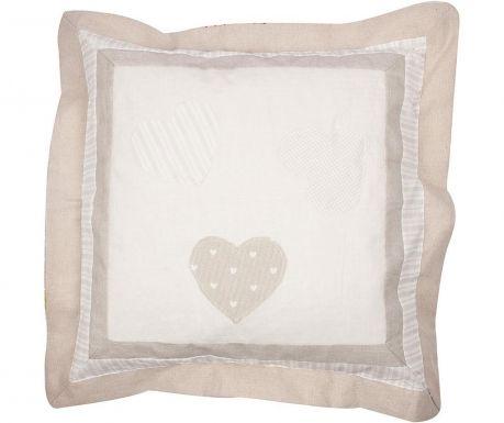 Fata de perna One Heart Patch Beige 50x50 cm