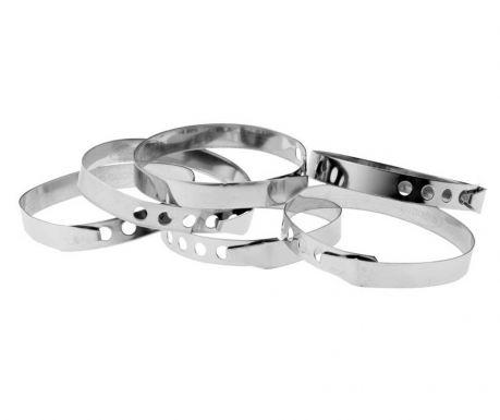 Sada 6 nastavitelných prstenců Silver