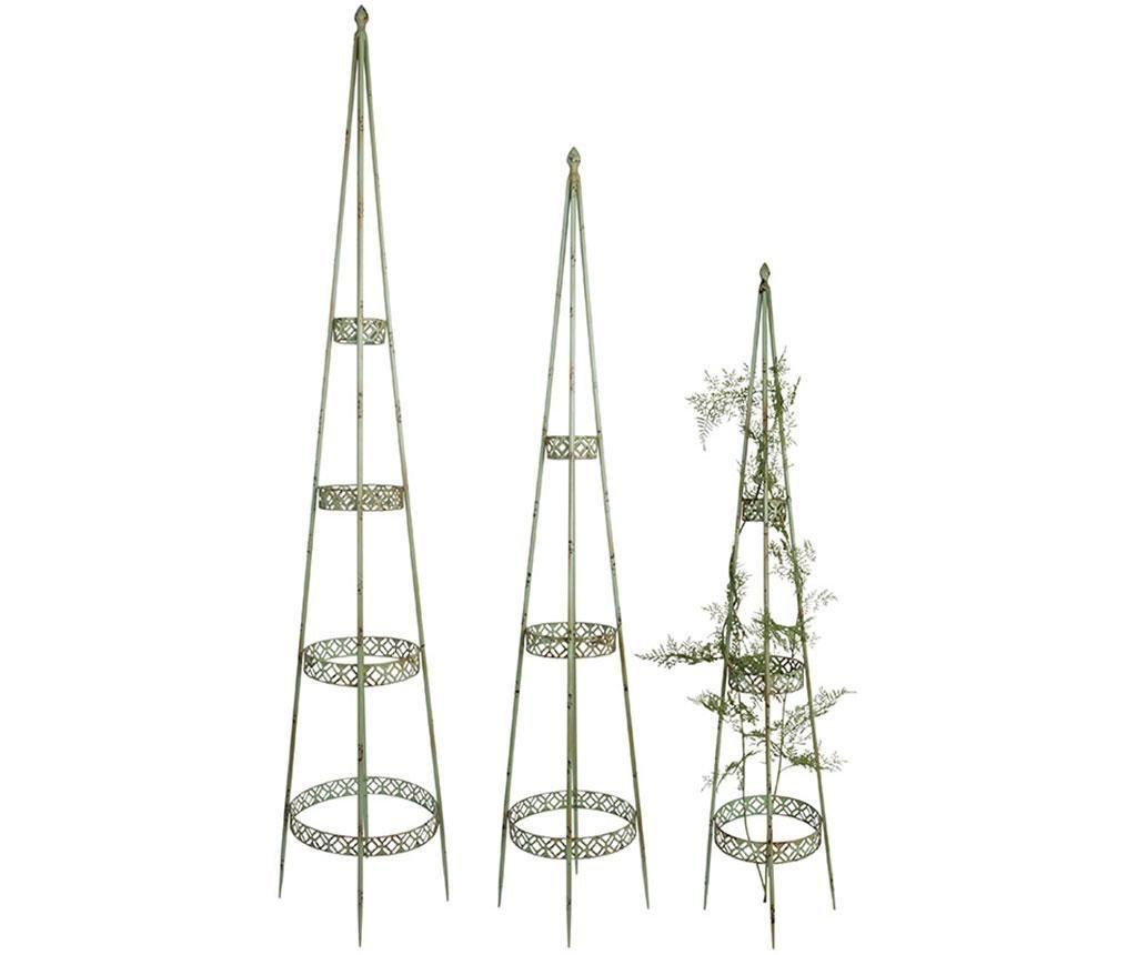 Sada 3 zahradních špalírů Obelisk