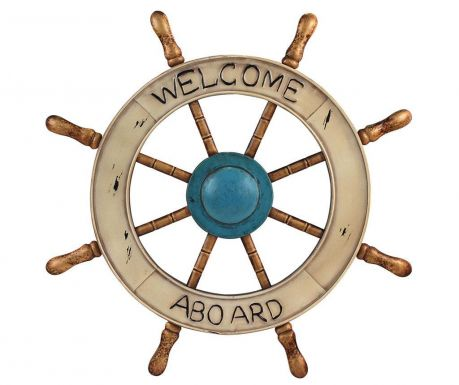 Decoratiune de perete Welcome Aboard