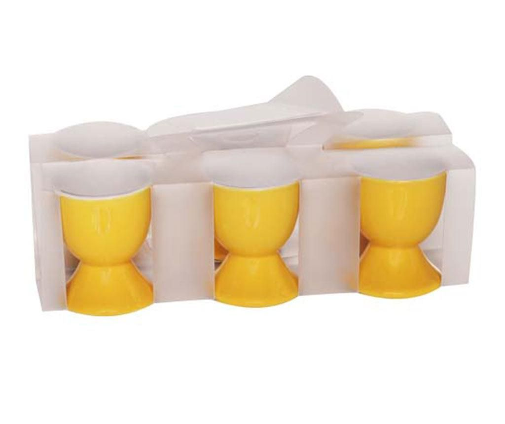 Set 6 podstavkov za kuhano jajce Dixie Yellow