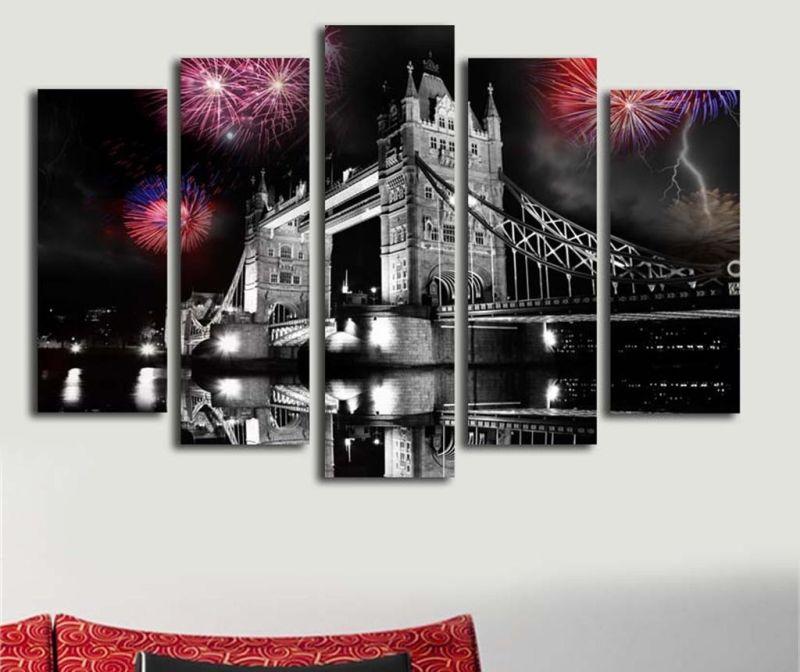 Set 5 tablouri London Night