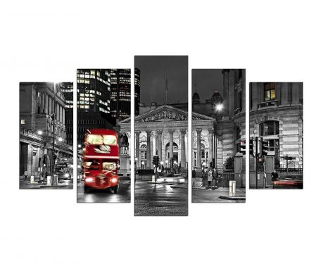 Set 5 tablouri London Bus