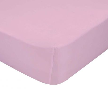 Cearsaf de pat cu elastic Basic Pink 90x200 cm
