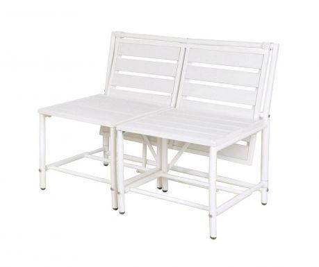 Venkovní konvertibilní lavice Magical White