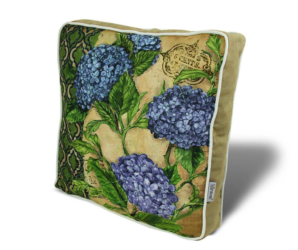 Perna de sezut Little Blue Flowers 42x42 cm - Gravel, Multicolor