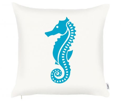 Fata de perna Seahorse Blue 43x43 cm