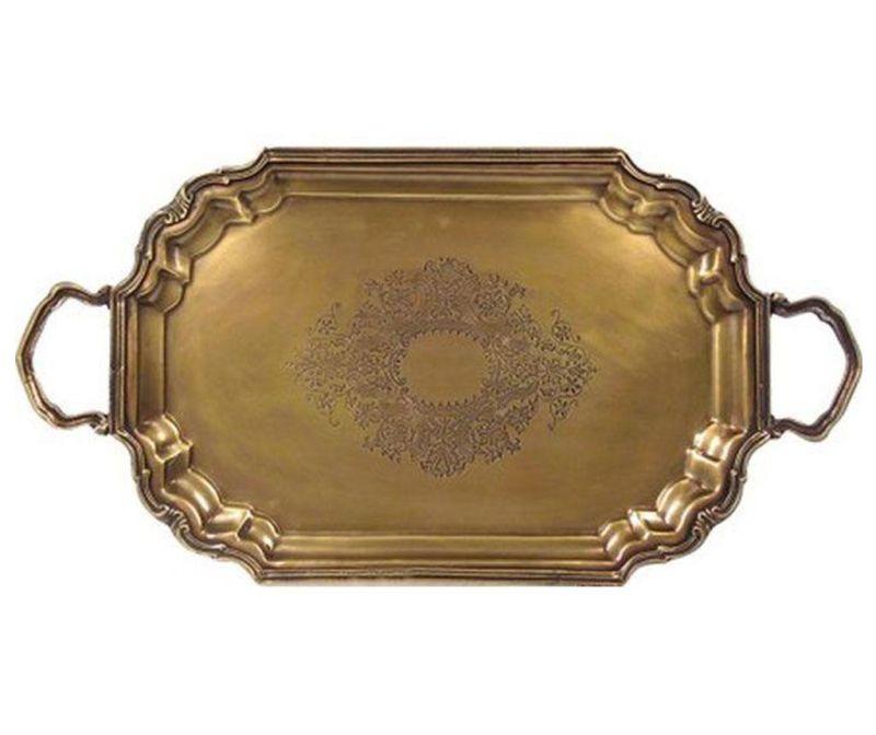 Servirni pladenj Antique Brass