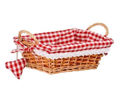 Košara za kruh Gingham Rectangular Red S