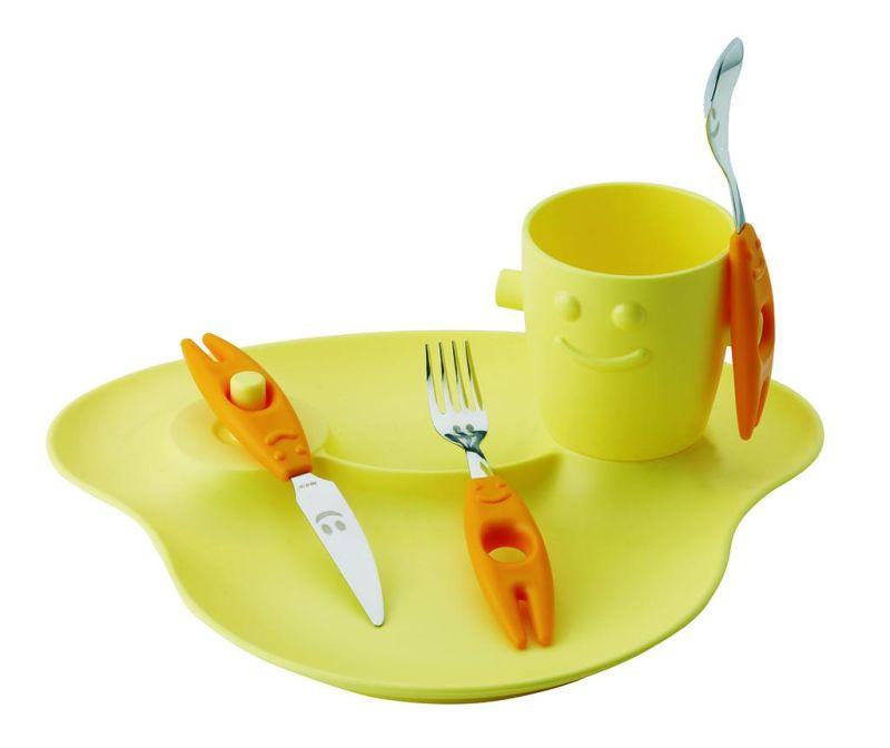 Pięcioczęściowa zastawa stołowa dla dzieci Party Yellow