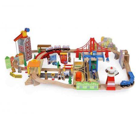 Комплект играчка градче и аксесоари 100 части Port