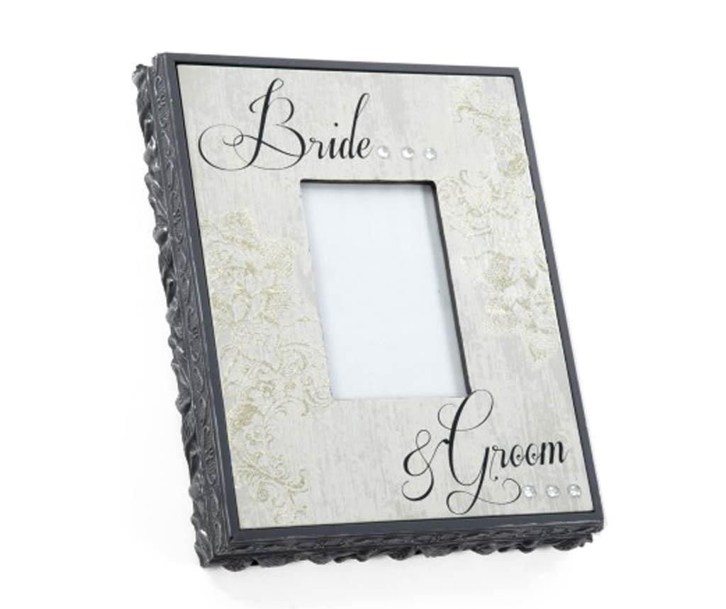 Elegant Bride & Groom Fényképtartó